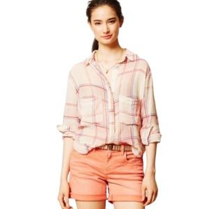 Anthropologie Holding Horses Plaid Button up Shirt